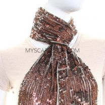 Bronze Sequin Neck Scarf