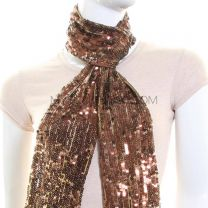 Bronze Sequin Scarf