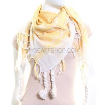 Yellow and White Arab Scarf (Shemagh)