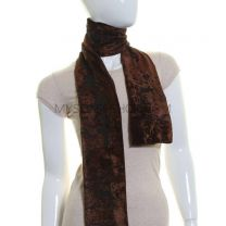 Brown Flower Velvet Scarf