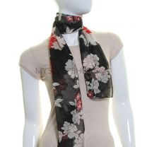 Floral Chiffon Scarf