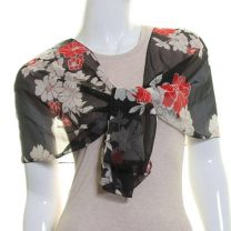 Red Flowers Chiffon Scarf