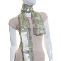 Grey Art Deco Satin Stripe Scarf
