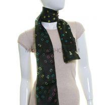 Dark Green Silk Tie Dye Scarf