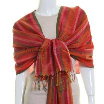 Stripe Jacquard Pashmina