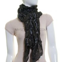 Black Bobbles Lurex Scarf