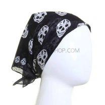 Black Multi Skulls Bandana