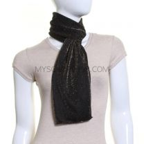 Black Lurex Glitter Neck Scarf (Gold Shimmer)