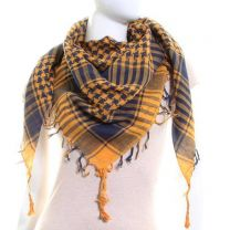 Yellow & Navy Arab Scarf (Shemagh)