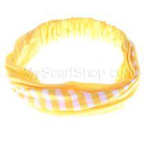 Yellow Stripes Cotton Headwrap